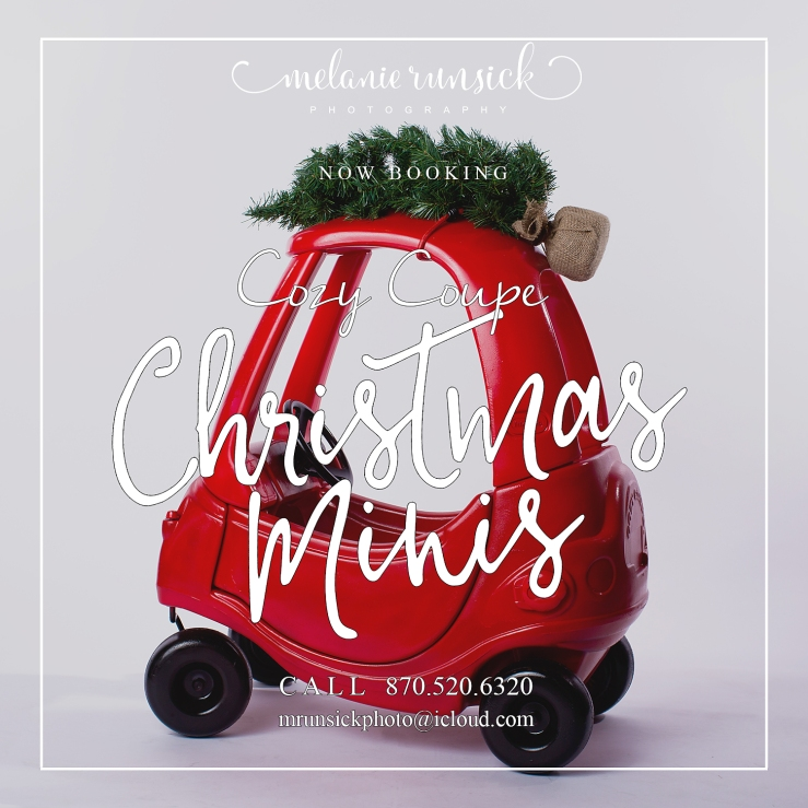 Jonesboro Family Photography Cozy Coupe Christmas Mini Sessions