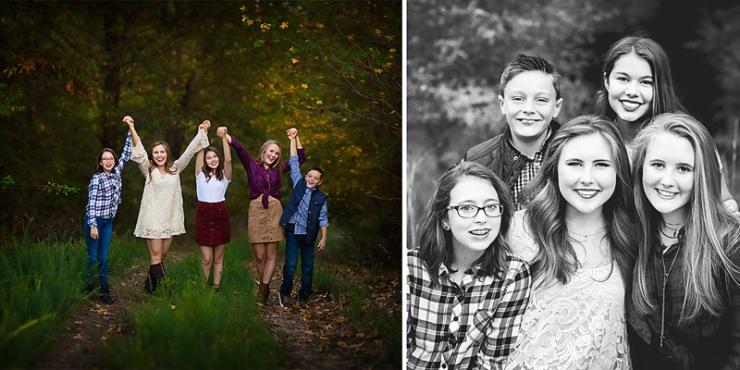 Melanie Runsick Photography Jonesboro Arkansas Cousins outdoor fall photo session