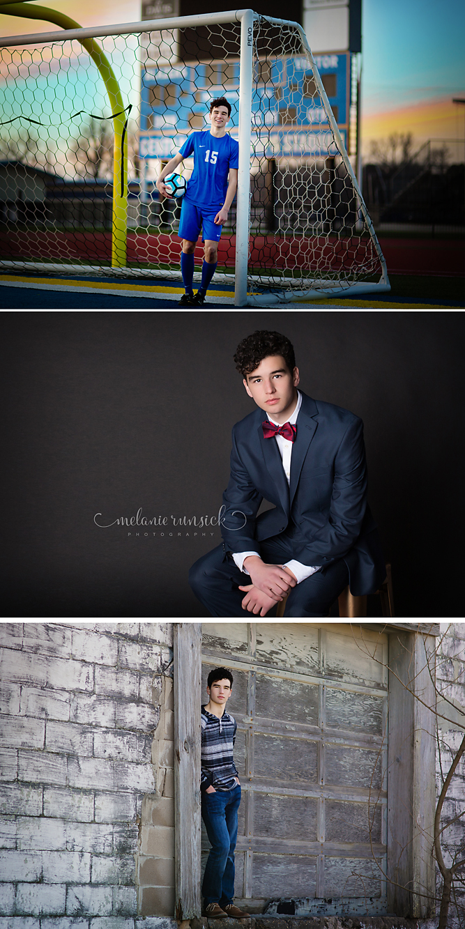 Valley View High School Senior Photographer Melanie Runsick Photography Soccer Photos In Studio Guys Senior Portraits