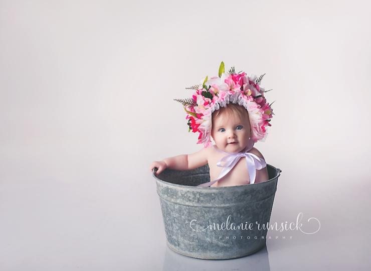 Melanie Runsick Photography Sitter Session Jonesboro Arkansas Flower Bonnet