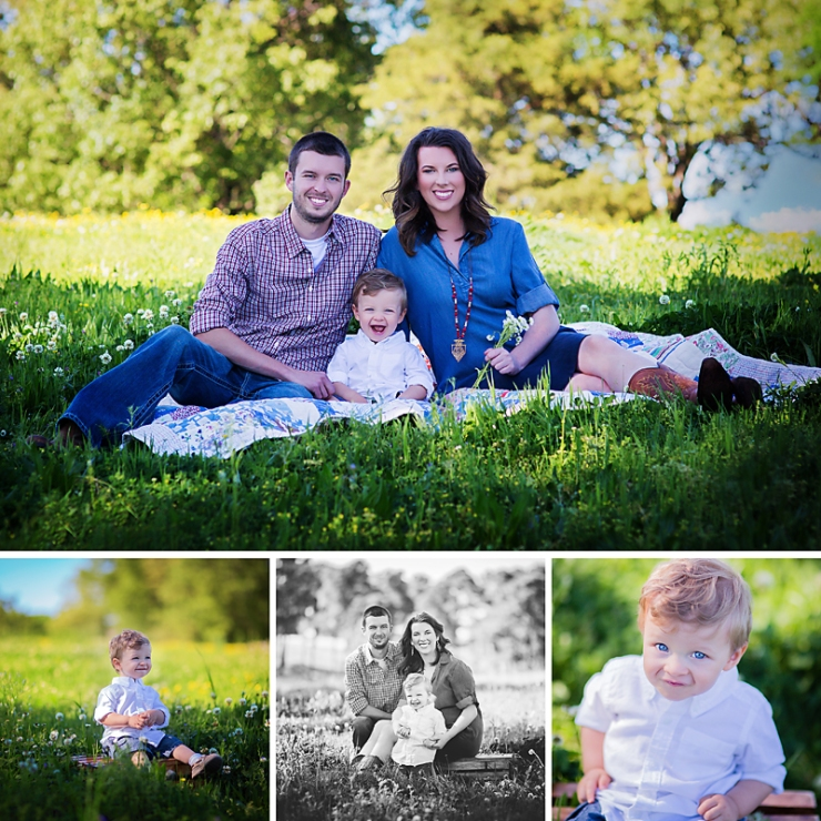 Northeast Arkansas Family Photographer Melanie Runsick Photography Outdoor Spring Family Session