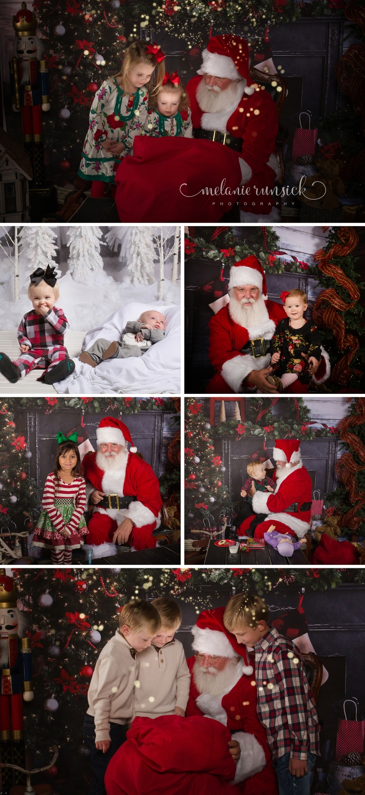 Melanie Runsick Photography Jonesboro AR Cookies with Santa 2017 Winter White Christmas Portrait Sessions