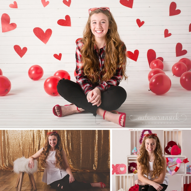 Jonesboro Ar Portrait Photographer Melanie Runsick Photography Valentine's Day Mini Session in the Studio