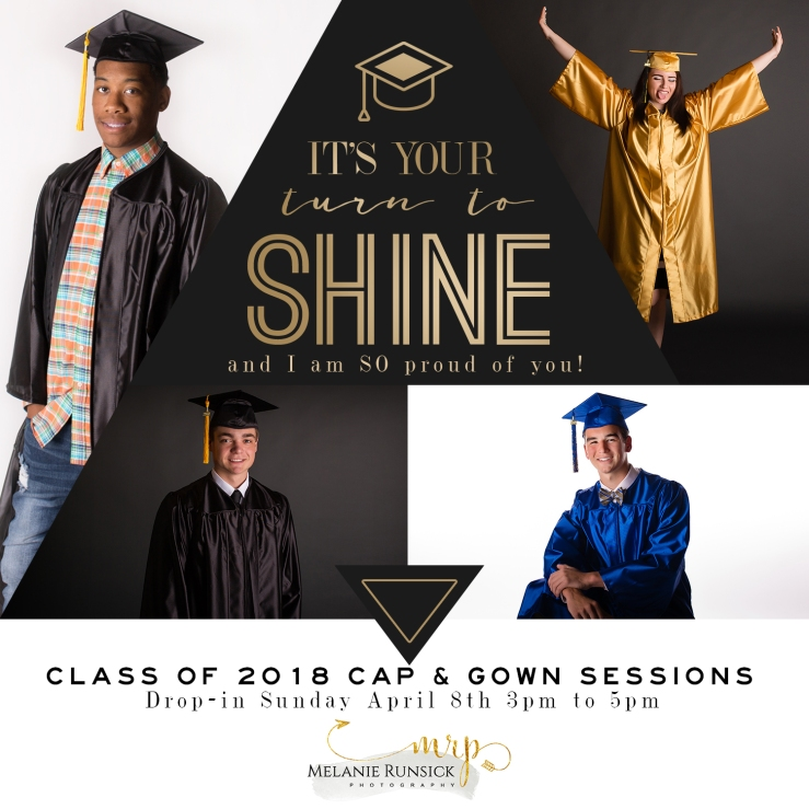 Melanie Runsick Photography Jonesboro Senior Photographer Senior Cap and Gown Portrait Sessions Class of 2018